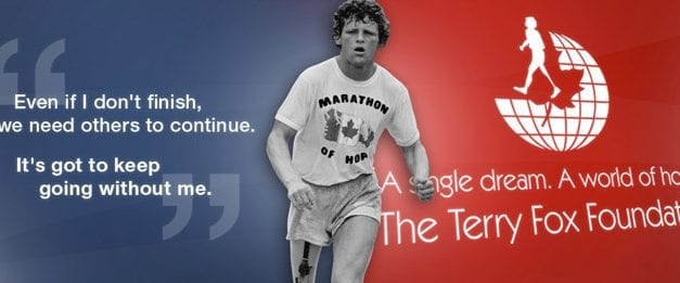 Terry Fox Run celebrates 36 years of fun and hope Sept 18.