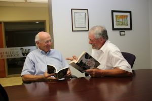 Stouffville Reads features local leaders like Ward 2 councillor Maurice Smith (l) and Ward 3 councillor Hugo Kroon, trying to convince you to read a book championed by them.