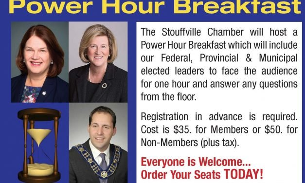 Political Power Hour Breakfast due to charge up business