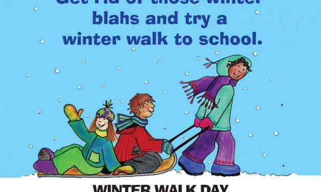 Feb. 7 is Winter Walk to School Day
