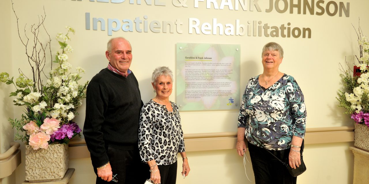 Markham Stouffville Hospital celebrates lasting legacy of Geraldine Johnson