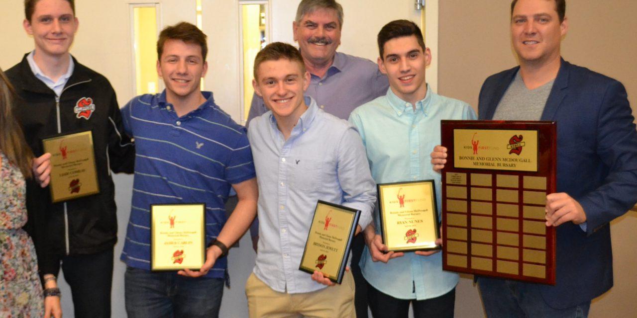 Stouffville teens recipients of inaugural hockey bursary awards