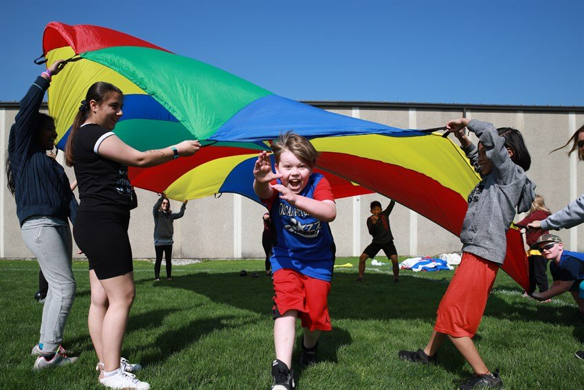 Elementary students compete at athletics and activity meet