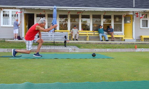 Lawn bowlers walk a quarter of a mile a game